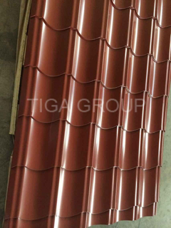 PPGI Waved Steel Sheet/Color-Coated Roof Step Tile for Africa