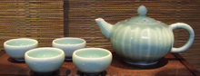 Celadon Tea Set (Taste Cup and Teapot)