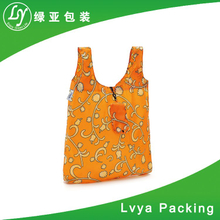 Wholesale eco-friendly cheap full color printing tote bag, 600 denier polyester tote bag