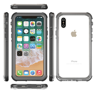 Transparent Waterproof Full Cover Mobile Phone Case for iPhone X