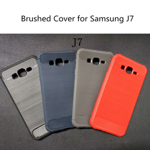 Anti Scratched TPU Cell Phone Case Brushed Mobile Case for Samsung J7