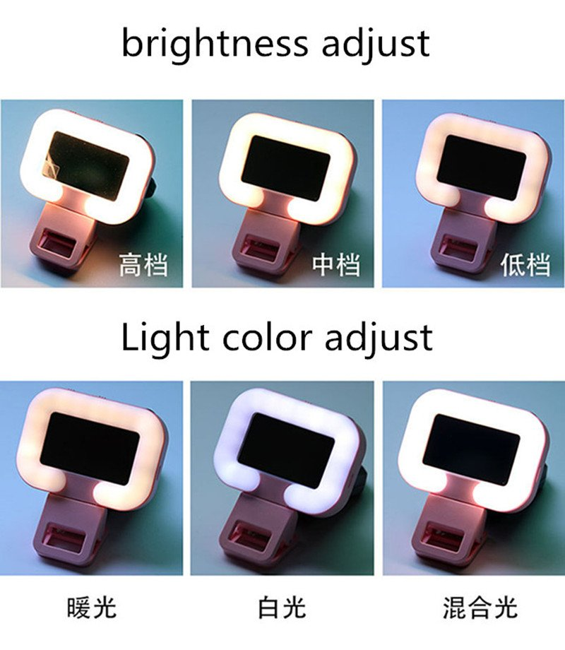 36 LED Clip Universal Selfie Ring Light for Mobile Phones Light Up LED Light