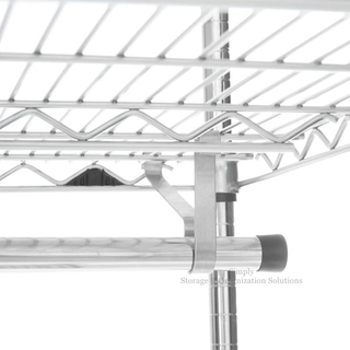 wire shelving accessory- Garment Hanger Tube with Brackets