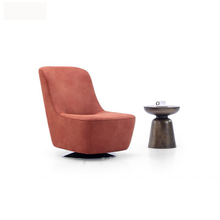 Occasional 360 degree red wood frame swivel club chair on sale