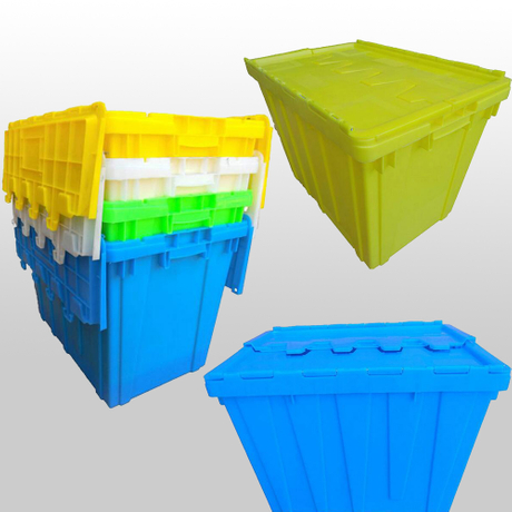 Plastic stack and nest containers 600x400x450mm