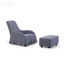 New style gray cozy wood wide arm chair for sale