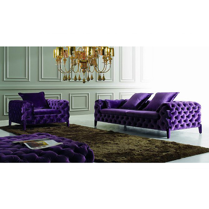 Hot Sale Modern Velvet Chesterfield Sofa