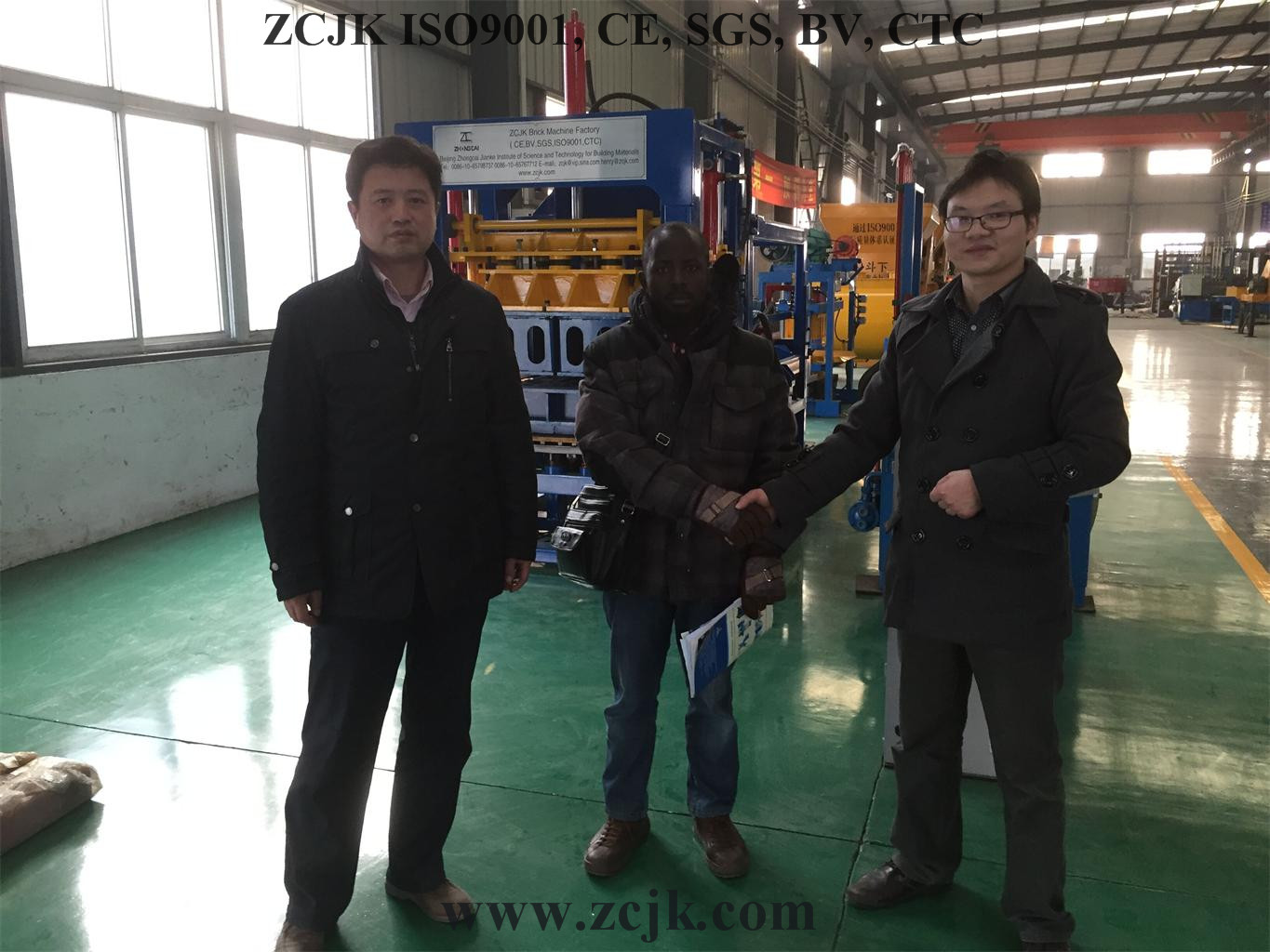 ZCJK Brick Machine Uganda Customer 20160115 (9)
