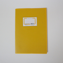 8mm ruled line notebook with book jacket staple binding