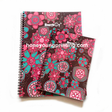 Flower pattern cover spiral notebook single line inner paper