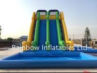 RB6079(12x6x10)Inflatable Water Slide for Kids and Adults