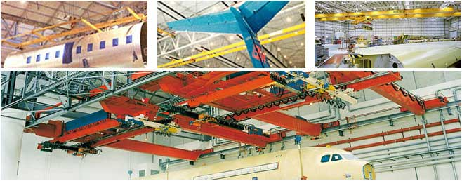 Overhead Cranes For Aircraft Manufacturing
