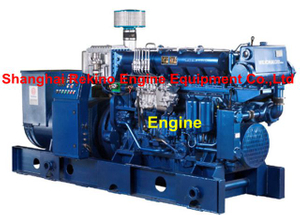 Weichai 170 series 250-400KW 50HZ medium speed marine diesel generator set