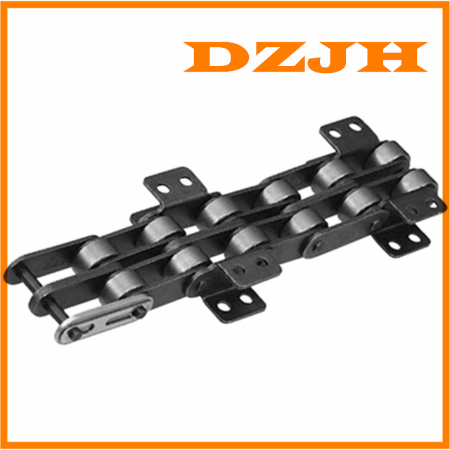 Double pitch conveyor chain with attachments AA-1 AA-2