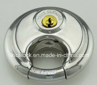 Stainless Steel Discus Padlock with Shrouded Shackle (203)
