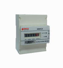 EM413 10(100)A electromechanical display single phase din rail mounted kwh meter s0 output meter