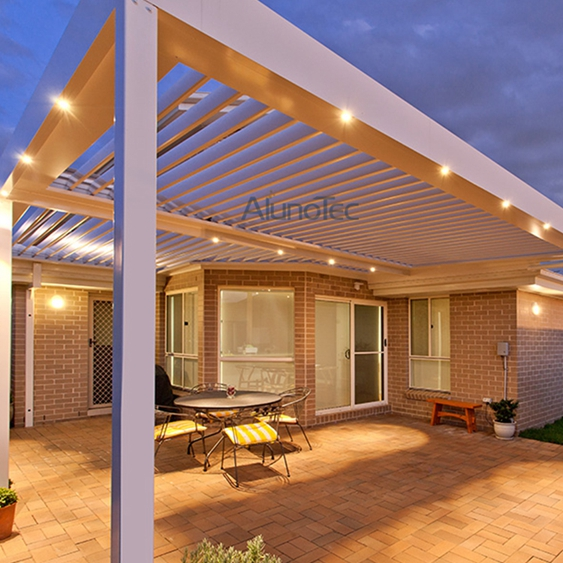 Motor Aluminum Patio Roof Pergola With Side Screen Buy