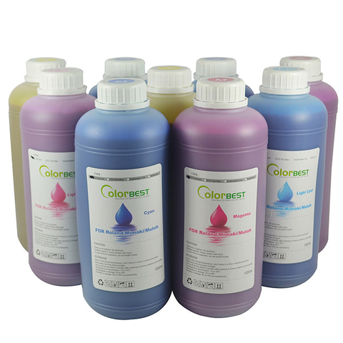 6Colors/Set CMYK LC LM Inkjet Printing Ink 1000ml Eco Max Ink Solvent Ink for Roland Mimaki Mutoh