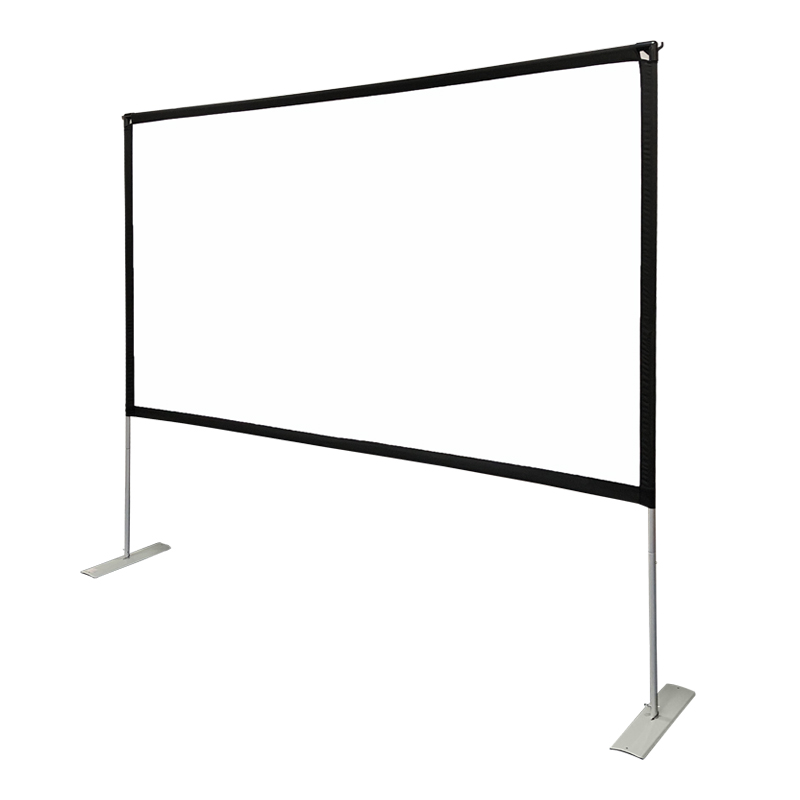 100 inch Projector Screen with Stand,Portable Wrinkle Free Outdoor Movie Screens 4K HD Rear Front Projections Movies Screen with Carry Bag for Indoor Home Theater Backyard Cinema Travel