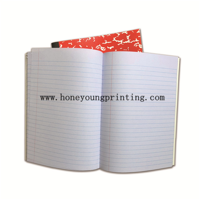 Composition book center sewing binding tape bond wide rule 9.75x7.5 inch 100sheets classic marble cover