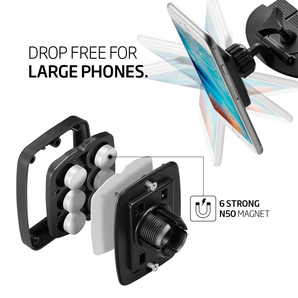 APPS2Car Newest Rectangular Universal CD Slot Magnetic Car Mount Holder with Swift-Snap Technology