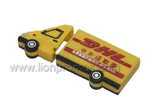 PVC Custom Car Shape Auo&Logistic Promotional Gift USB Flash Drive