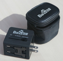 Custom Printing Worldwide Universal Travel Adapter With USB Charger SP118