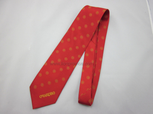 Corporate Logo Jacquard Polyester Tie