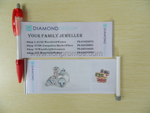 diamond design banner pen