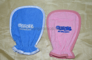 Oridel Logo Embroidery Terry Towelling Bathing Glove