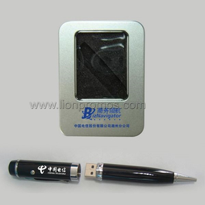 Metal Box Packing 4GB Pen Shape USB Flash Drive