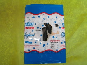 Cameroun Dairy Industry Royal Crown Logo Milk/Beverage Drinking Bottole Shrinking Label