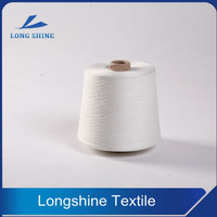 Raw White T/R Core Spun Yarn for Knitting Denim Supplier