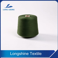 4S-12S Dope Dyed Color Polyester Ring Spun Yarn With Low Price