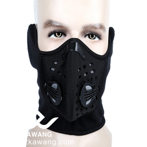 Wholesale 100% polyester Fleece Ski Mask Full Face Windproof Headgear Lycra Waterproof Cold Neck Gear Wear