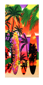Rectangle microfiber hot transfer print beach towel