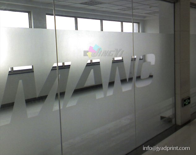 Frosted Vinly Lettering Sticker for Window & Glass, Die Cut Shape Frosted Translucence PVC Letter Stickers, translucency sticker