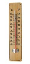 CF308-4 Wooden Thermometer