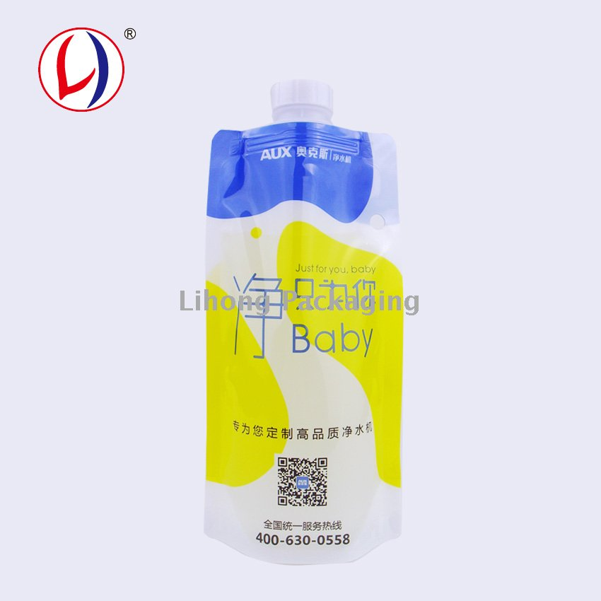 Stand Up Liquid Packing Bag With Big Cap