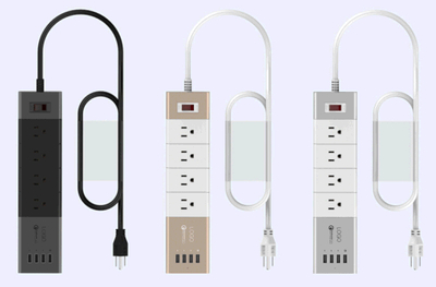 Smart Charger with 4 Ports USB and 4 Ports AC
