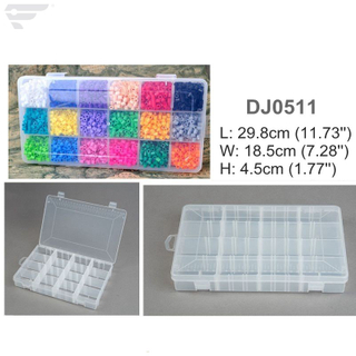 DJ0511 Clear Plastic Box 16 Compartment box