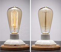 Edison Style Incandescent Lamp with Cable Hotel Style Lamps with Outlets