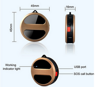 Mini Real Time Platform Long Range Gold GPS Locator for Children