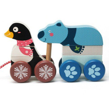wooden animal car