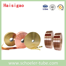 Copper strip, copper flat tube