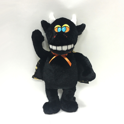 Scary Emoji Singing Black Monsters Plush for Hollween Gifts