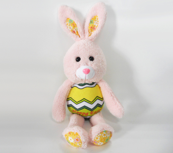 Plush Rabbit Easter Pink Furry Fluffy Plush Stuffed Animals