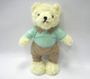 Custom Lovely Couples Plush Soft Yellow Teddy Bear Stuffed Toy Bear with Clothes