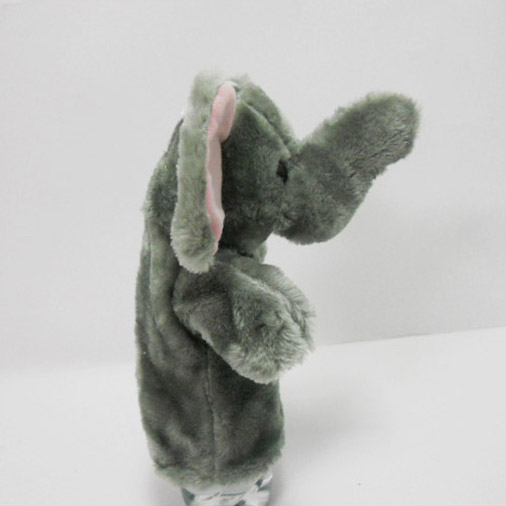 Plush Stuffed Toy Grey Elephant Hand Puppet for Kids