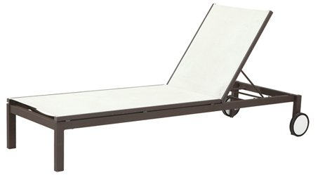 Garden Textilene Chaise Lounge for Outdoor Furniture (LN-812)